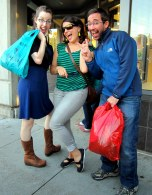 Myself, Kate and Rudy enjoy some secondhand shopping at Crossroads Trading Company in Berkeley.