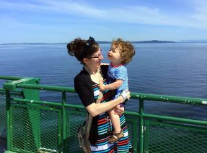 Traveling with a baby (on a ferry, pictured here) always has ups and downs